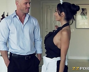 Huge hooters maid ava addams pounded with a huge wang