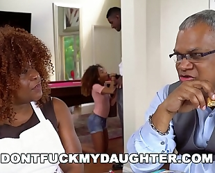 Don't fuck my daughter - dark legal age teenager kendall woods bonks her father's ally, jax slayher