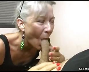 Slutty granny oral-service