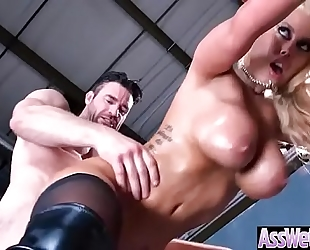 (bridgette b) lascivious white women with large oiled arse acquire it hard in her behind clip-12