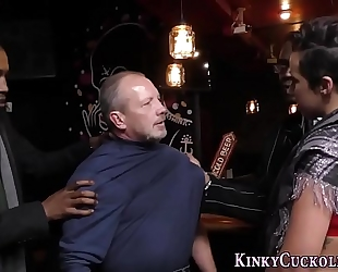 Kinky girl acquires bbc cum