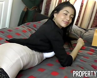 Propertysex - squirting real estate agent cheers up her client with astounding sex