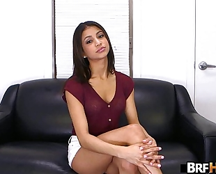 Teen latin babe veronica rodriguez 1st time in front of the camera getting 2.1