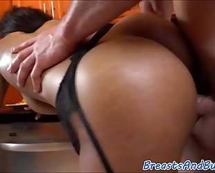Bigtits swarthy honey drilled in many poses