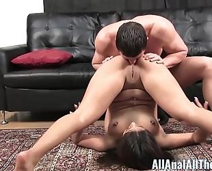 Ass slavemaster jynx maze takes anal creampie for allanal!