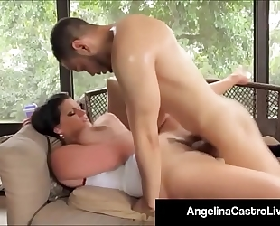 Cubas porn queen angelina castro receives a large dark shlong & cum