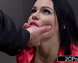 Horny cheating business woman peta jensen gives head in an elevator
