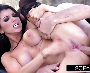 Big tit sex bomb romi rain tries anal for the first-time