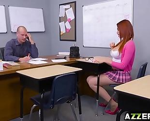 Redhead student skyla novea receive a sexy hardcore sex