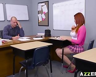 Busty schoolgirl skyla novea undresses and got screwed