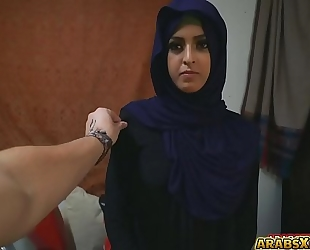 Sexy pretty arab sweetheart was being filmed