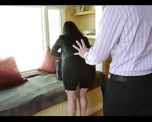 Sophie dee's whoppers distract her boss from work!