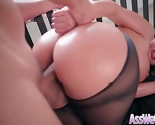 Cute bitch black cock sluts (brooklyn chase) with huge wazoo receive anal group-fucked vid-12