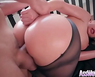 (brooklyn chase) large gazoo oiled housewife love unfathomable hard anal sex clip-12