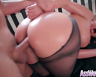 Anal hardcore sex tape with wench large curvy a-hole cheating wife (brooklyn chase) vid-15