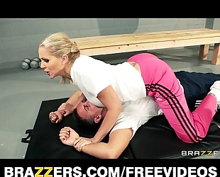 Dominant golden-haired coach julia ann receives a worthy unfathomable fucking