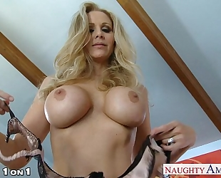 Blonde cheating wife julia ann gives oral in pov