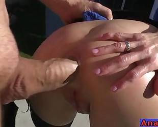 Mature anal licking, fisting, gaping and fucking