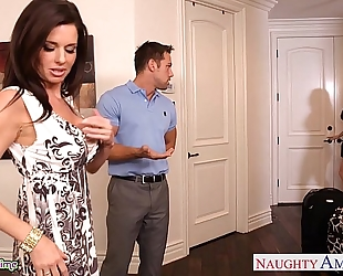 Brunettes india summer and veronica avluv share a large wang