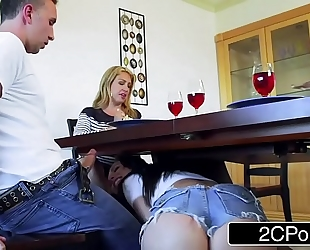 Married stud has trouble turning down aidra fox and her incredible bra buddies