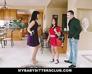 Mybabysittersclub - baby sitter acquires a three-some on the job