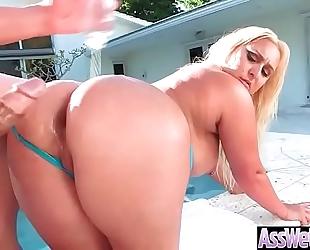 Anal hardcore sex with big round oiled butt doxy white BBC slut (nina kayy) clip-25