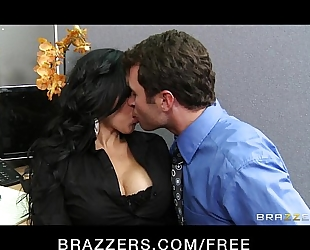 Sexy big-boobed latin chick diamond kitty has rough-sex with co-worker