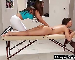 R33n@ sky, ab3ll@ dang3r and chan3l pr3ston in smutty massage