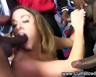 Black pecker gang team fuck blowjobs bukkake