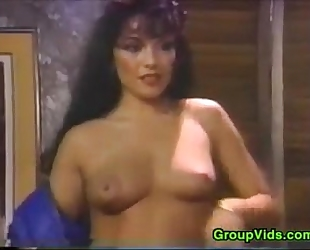 Sluts fucking in this classic 3some