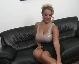 Czech milf with large naturals boobs copulates
