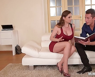 Mom next door cathy heaven goes wild in dp 3some