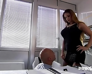Cathy heaven anal in office! heavy bumpers!