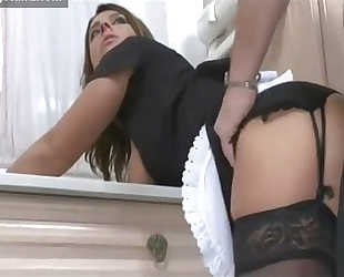 Busty maid fucking her boss on collegecamz.com