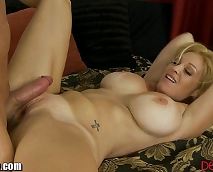 Devilsfilm large titty milf undress and screwed