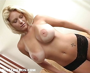 Busty hottie with a large dark sex tool