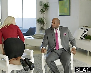 Blacked business golden-haired anikka albrite wazoo drilled by a bbc