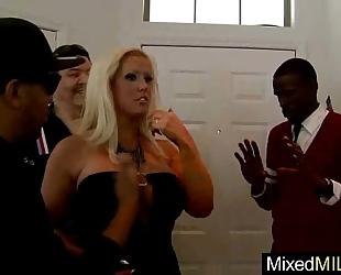 Mixt sex tape betwixt monster dark schlong and sluty hawt older cheating wife (anikka albright) movie-08