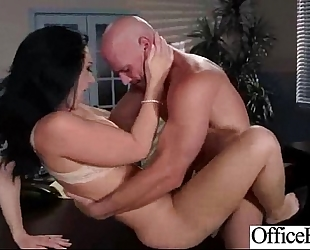 Sexy worker white wife (jayden jaymes) with large melon love muffins in sex office action clip-21