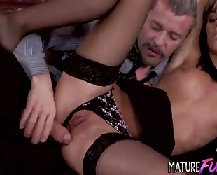 Young secretary in stockings gets anal from her boss