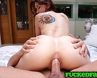 Mandy muse desires to save snatch for bf and takes it up the chocolate hole