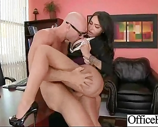 (lela star) hot white doxy with round big juggs in hardcore sex in office mov-23
