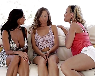 Kendall, ava addams and simone sonay at mommy's white sweethearts