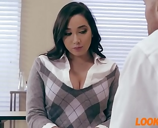 Teacher acquires a blow job from her student