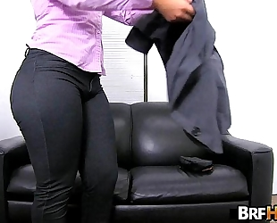Big butt latin babe rose monroe's very first porno 2.1