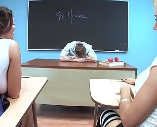 Capri cavanni schoolgirl 3some