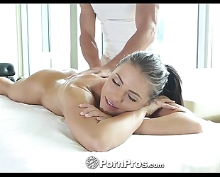 Hd pornpros - hawt brunette hair adriana chechik acquires holes filled after massage