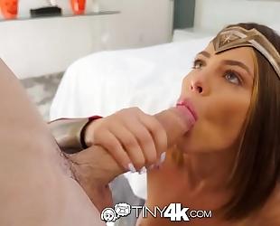 Tiny4k halloween fuck and creampie with wonder woman adriana chechik