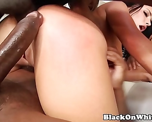 Bbc hungry model dped in interracial group-sex