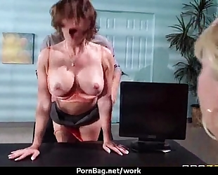 Busty working sweethearts getting boned from behind 12
